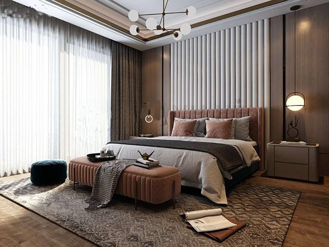 Thiết kế phòng ngủ 20m2 cho vợ chồng 2