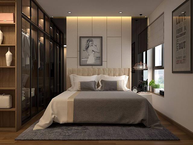 Thiết kế nội thất phòng ngủ 20m2 hiện đại 1