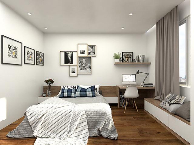 Thiết kế nội thất phòng ngủ 20m2 hiện đại 2