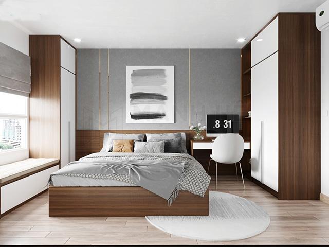 Thiết kế nội thất phòng ngủ 20m2 hiện đại 3