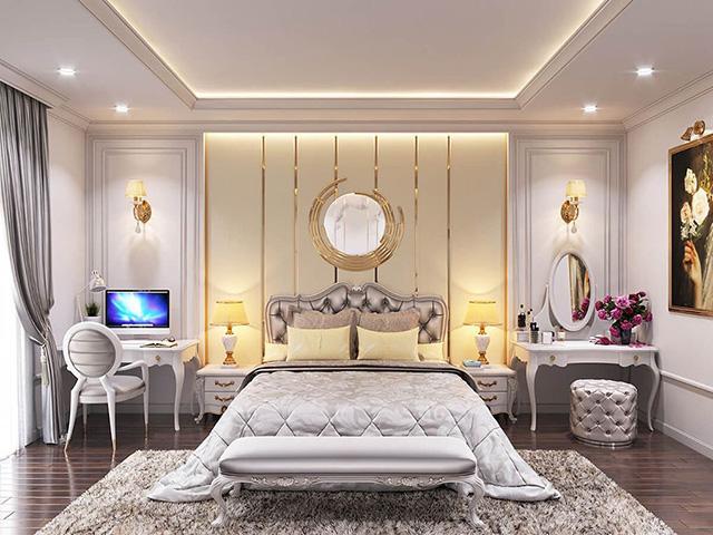 Phòng ngủ phong cách tân cổ điển - Ảnh 2