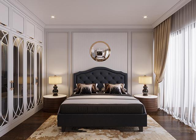 Phòng ngủ phong cách tân cổ điển - Ảnh 1
