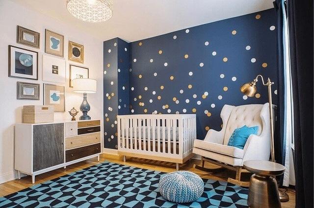 Trang trí phòng cho bé trai sơ sinh