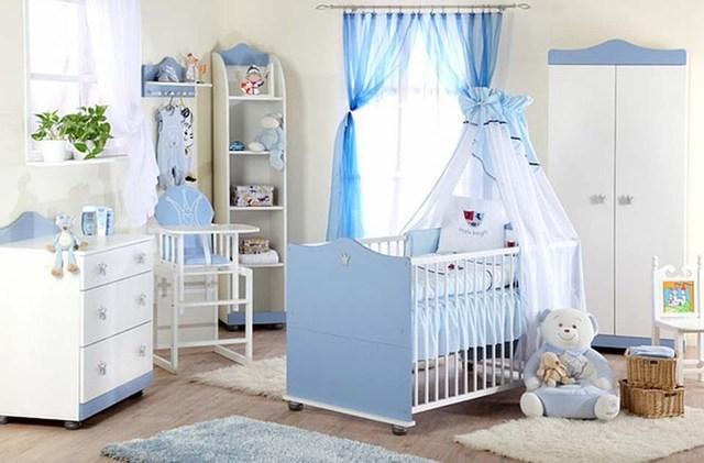 Trang trí phòng cho bé trai sơ sinh 3