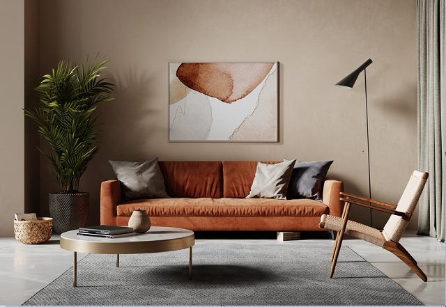 Trang trí phòng khách bằng sơn tường