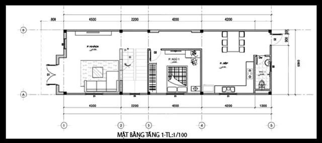 mẫu thiết kế nhà 2 tầng 3 phòng ngủ cơ bản 1