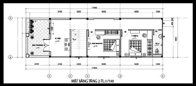 mẫu thiết kế nhà 2 tầng 3 phòng ngủ cơ bản 2