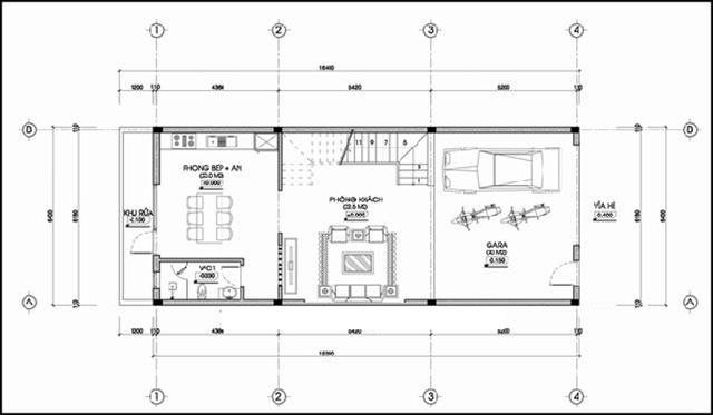 mẫu thiết kế nhà 3 tầng 4 phòng ngủ 1