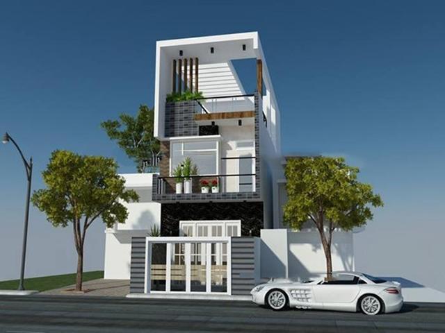 mẫu thiết kế nhà 3 tầng 4 phòng ngủ 4