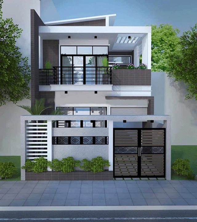 mẫu thiết kế nhà nhà ống 2 tầng 6x15m 1