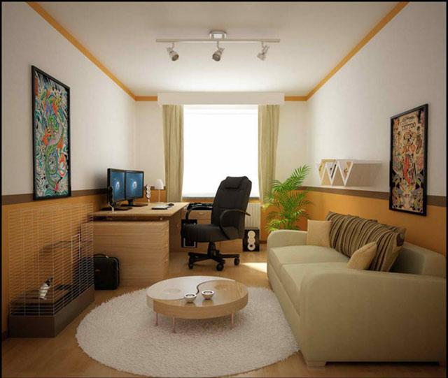 Mẫu thiết kế phòng khách nhỏ 7