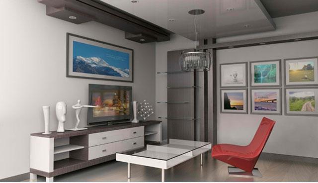 Mẫu thiết kế phòng khách nhỏ 8