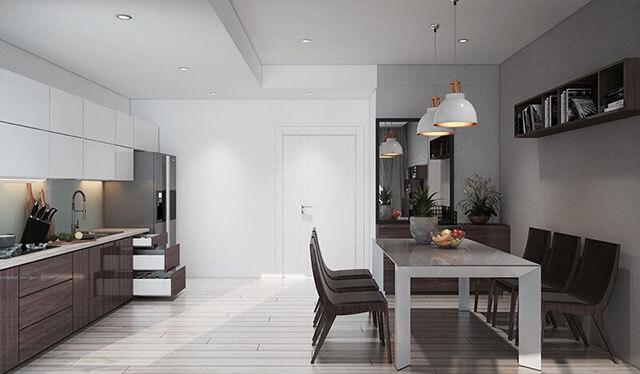 Thiết kế phòng ăn và bếp đẹp 6