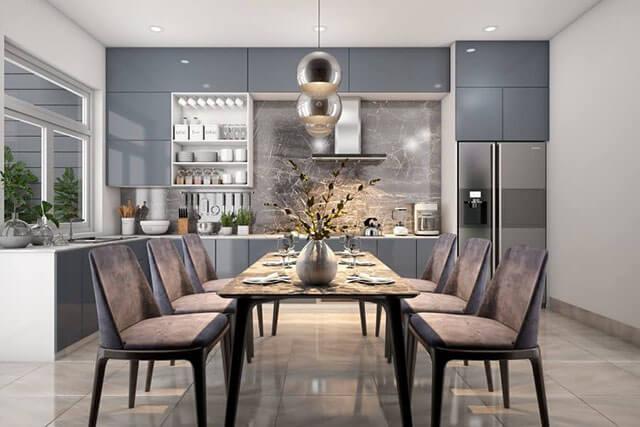 Thiết kế phòng ăn và bếp đẹp 7