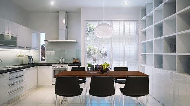 Thiết kế phòng ăn và bếp đẹp 9